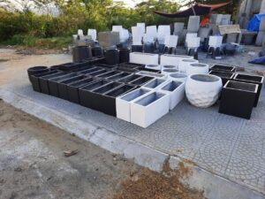 Xưởng sản xuất chậu xi măng composite Đà Nẵng.